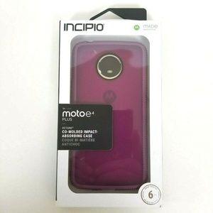New OEM Incipio Plum Case For Motorola Moto E4